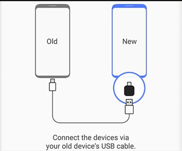 Transferring data with Samsung Smart Switch