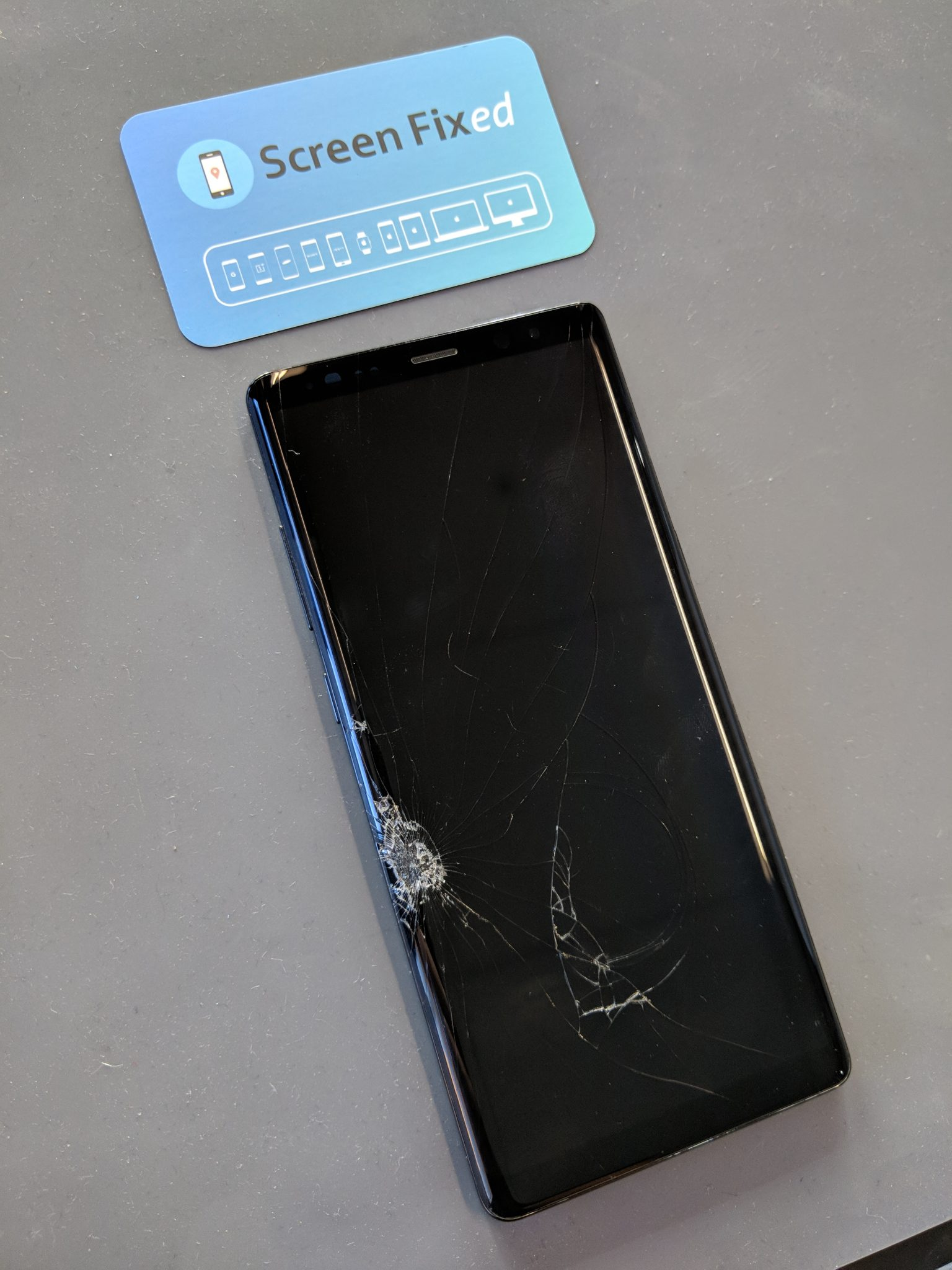 Samsung Galaxy Note Broken Screen
