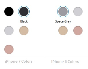 Apple iPhone 6 & 7 Colors